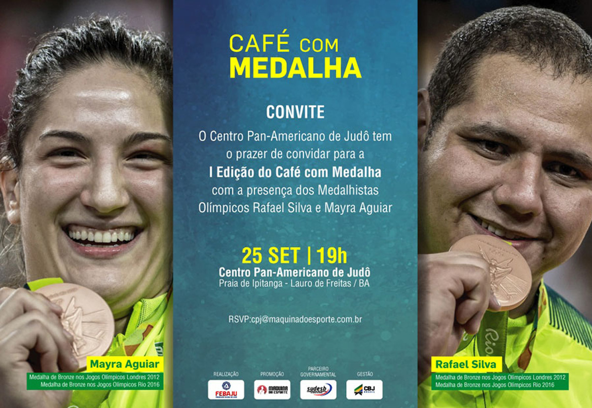 Máquina do Esporte promove Café com Medalha no Centro Pan-Americano de Judô