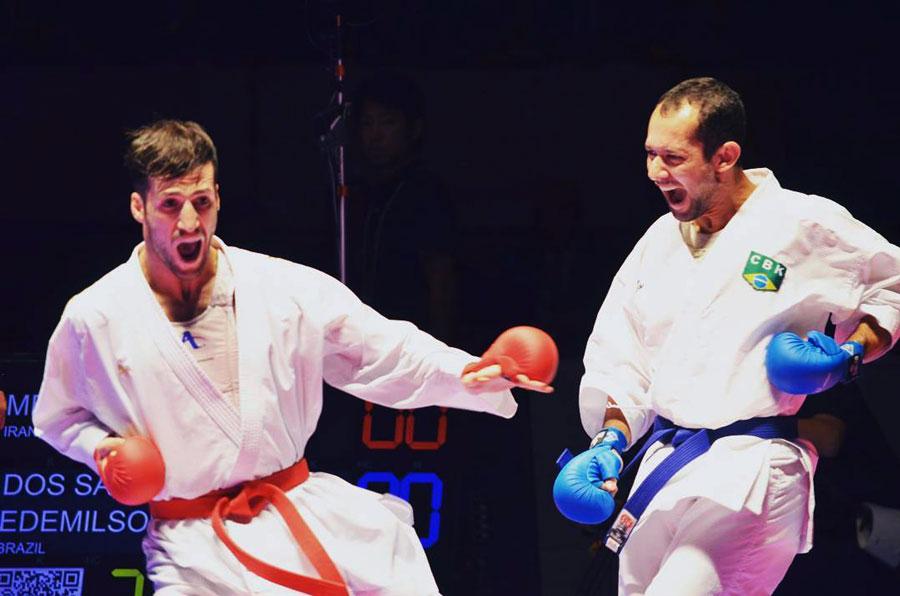 Edemilson Gutz garante prata para o Brasil no Karate1 Okinawa