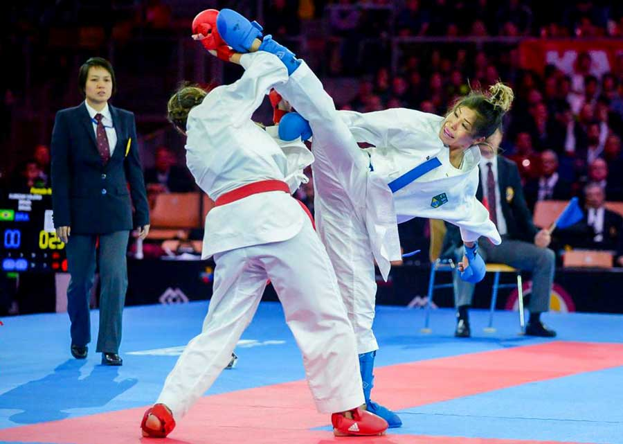 Douglas Brose, Valéria Kumizaki e Vinicius Figueira estão no Top Three da World Karate Federation