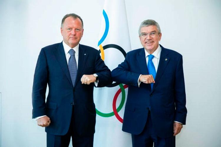 Os presidentes Marius Vizer e Thomas Bach reúnem-se em Lausanne