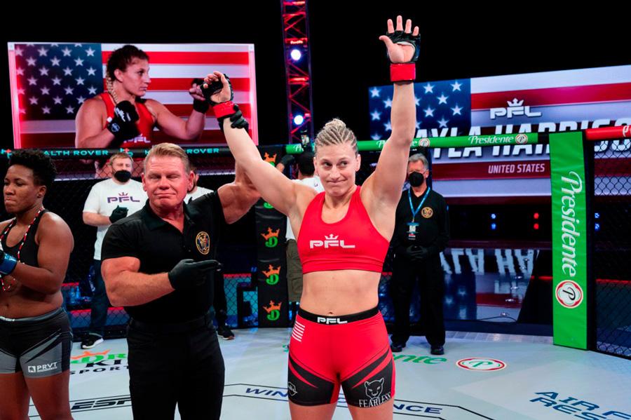 Atual campeã da PFL, Kayla Harrison culpa Dana White por não estar lutando no UFC