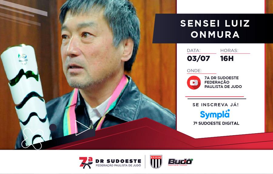 Medalhista olímpico Luiz Onmura fará live 7ª Delegacia Regional Sudoeste sobre o judô olímpico brasileiro