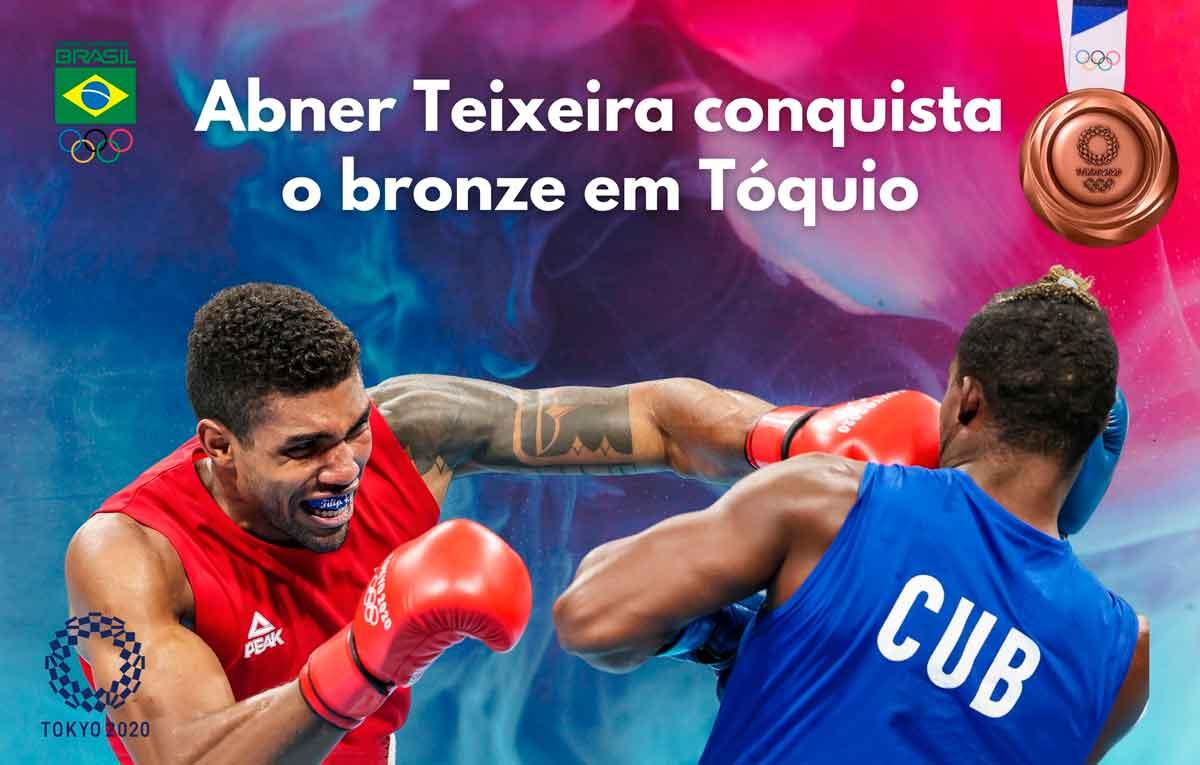 Bronze de Abner Teixeira é a primeira das três medalhas já asseguradas pelo boxe em Tóquio