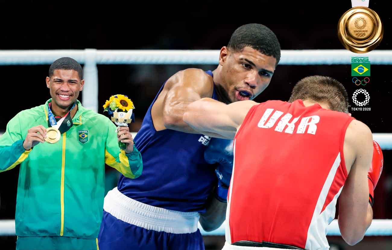 Nocaute espetacular consagra Hebert Conceição com a medalha de ouro no boxe