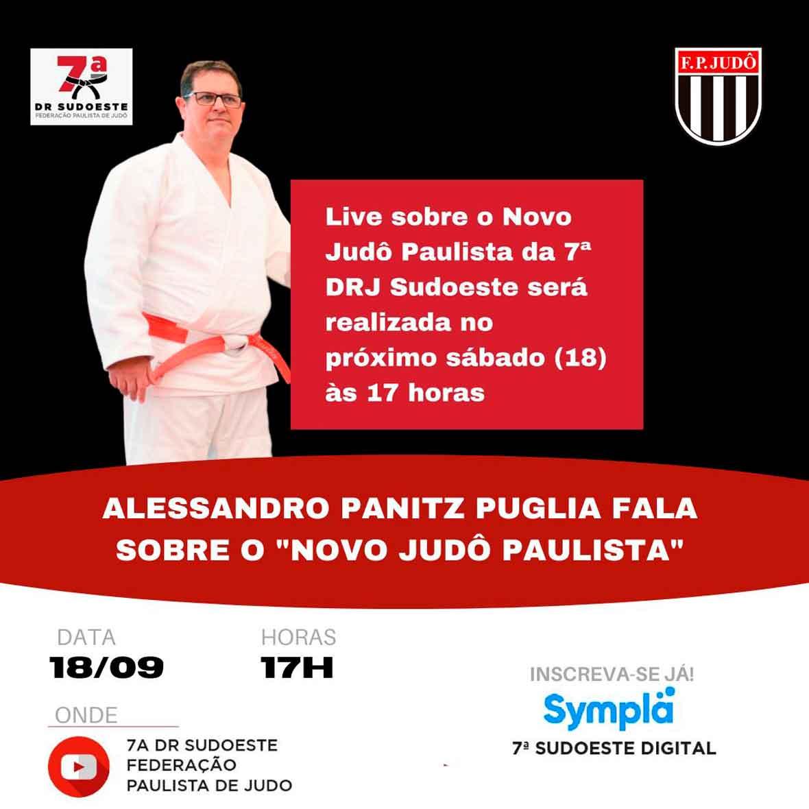 Em função do falecimento do sensei Yanagimori, a live de Alessandro Puglia acontecerá no próximo sábado
