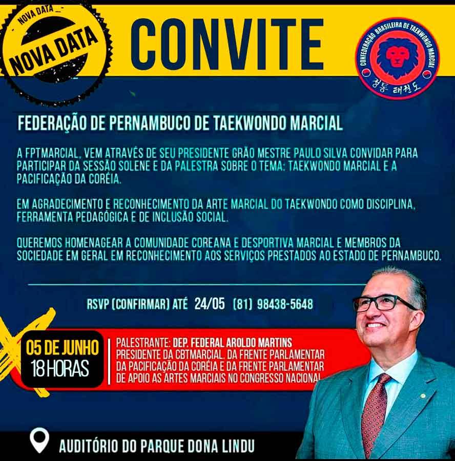 FPTMarcial realizará em junho, no Recife, palestra em homenagem às comunidades coreana e das artes marciais