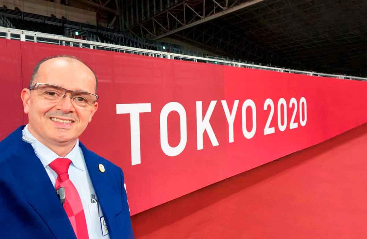 Luis Mendoza, árbitro de taekwondo, faz participação inédita e histórica nos Jogos Olímpicos de Tóquio