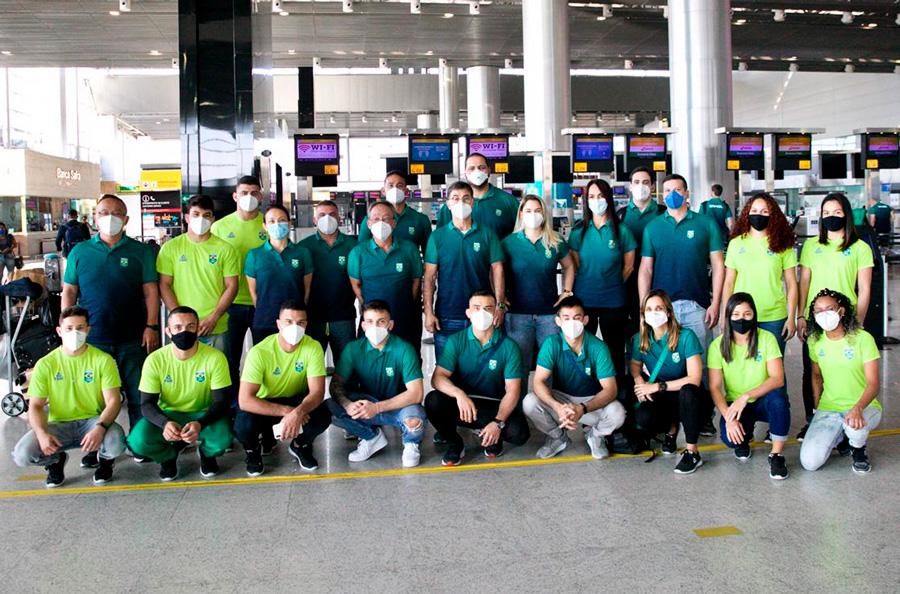 Primeiro grupo da delegação brasileira de judô embarca para o Japão rumo a Tóquio 2020