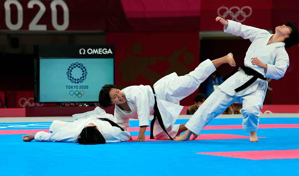 Após a estreia em Tóquio, presidente da World Karate Federation defende permanência da modalidade