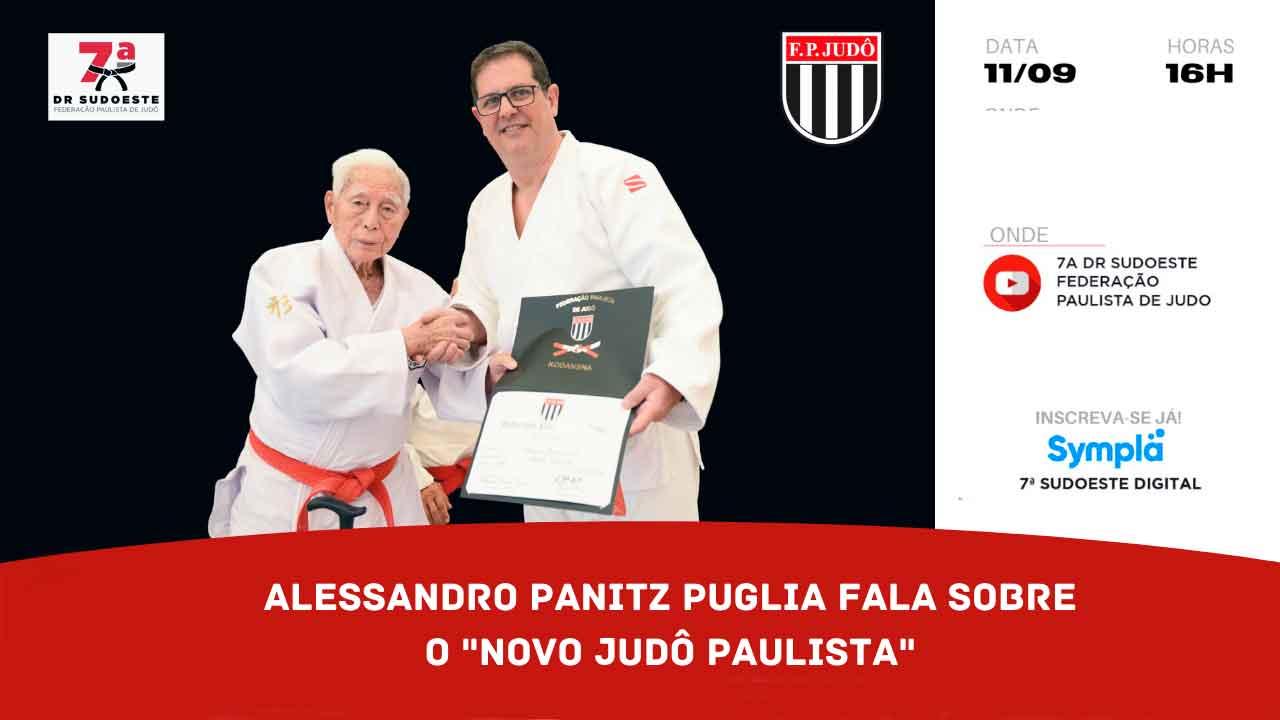 Puglia fala sobre o Novo Judô Paulista na live deste sábado da 7ª DRJ Sudoeste